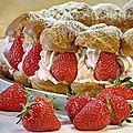 Couronne frou-frou aux fraises pour la fête des mères