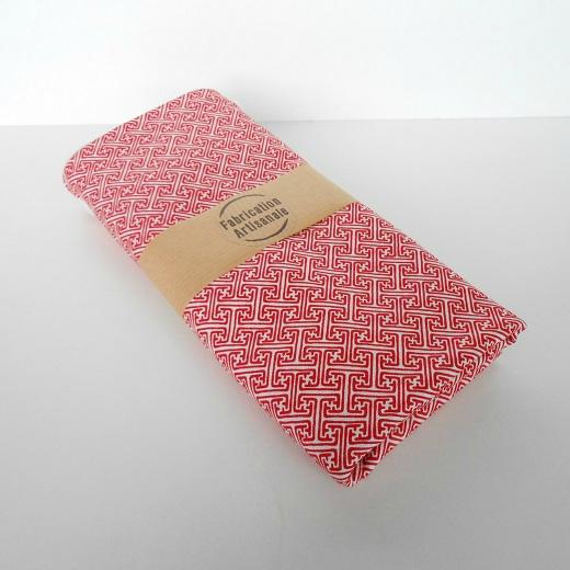 Pochette lingerie labyrinthe rouge4