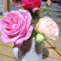 petit bouquet de roses parfumées