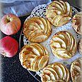 Tartelettes fines pommes cannelle