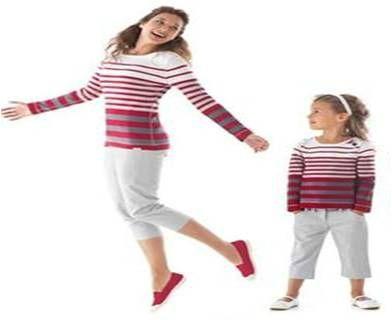 Tendance mode m re fille et p re fils on s 39 harmonise shopping addict la rescousse - Vetement mere fille identiques ...