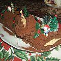 Buche chocolat-abricot façon sacher mais revisité