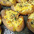 Des simples pommes de terre rôties aux herbes de l'arrée pour une alouette comme une étoile filante...