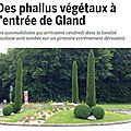 Gland, rond-point