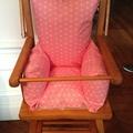 <b>coussins</b> de <b>chaise</b> <b>haute</b> en coton enduit