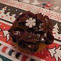 Cupcakes de noël - cupcakes à l'after eight (chocolat/menthe)