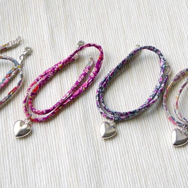 bracelet liberty double tour avec coeur