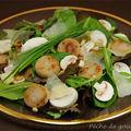 Salade gourmande au <b>boudin</b> <b>blanc</b>