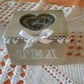 Dove mettere il thè- a place for tea bags- la boite pour le thè