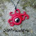 Collier elfique rouge avec perle noire (18)