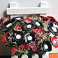 Bouquet de coquelicots en cérampique (7)