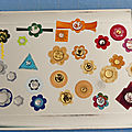 <b>Embellissements</b> faits maison - Home made scrap embellishment