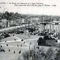 La place gambetta, le bassin du commerce et le quai d'orléans