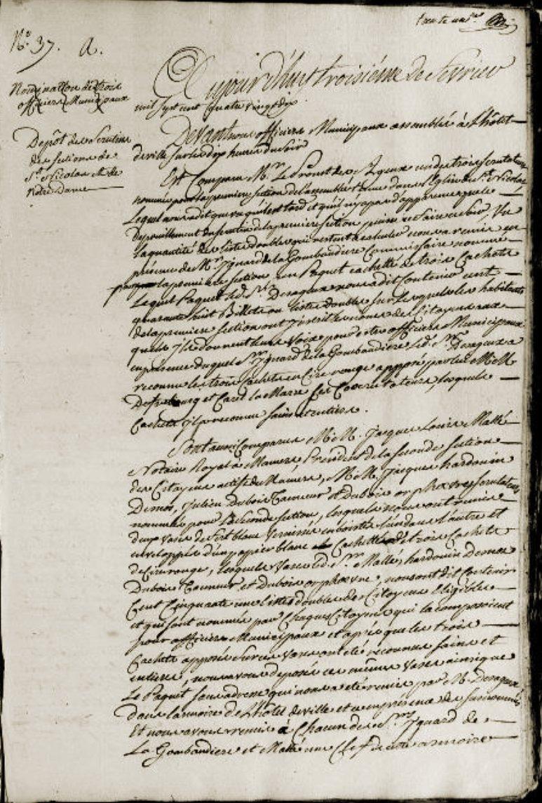 Le 3 février 1790 à Mamers : élection de la municipalité ( suite ).