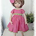 Robe pour little Darling set robe et barrette 29 euros frais de port compris envoi en lettre suivie