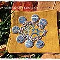 11 b 5.Bracelet grain de café argent massif médailles gravées-1