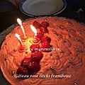 Gâteau rose litchi framboise aux biscuits roses de reims