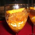 Salade d'oranges à l'orientale en gelée de thé vert à la menthe