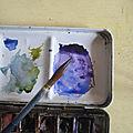 Eau, pinceau & aquarelle