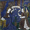 Circle of Pseudo-Monvaern, French, Limoges, circa 1500, Plaque with the <b>Annunciation</b>