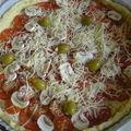 Tarte à la tomate et aux champignons...miam !