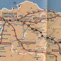 Itinéraire leon compostelle