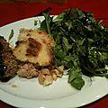 Parmentier de poulet aux poires et au roquefort