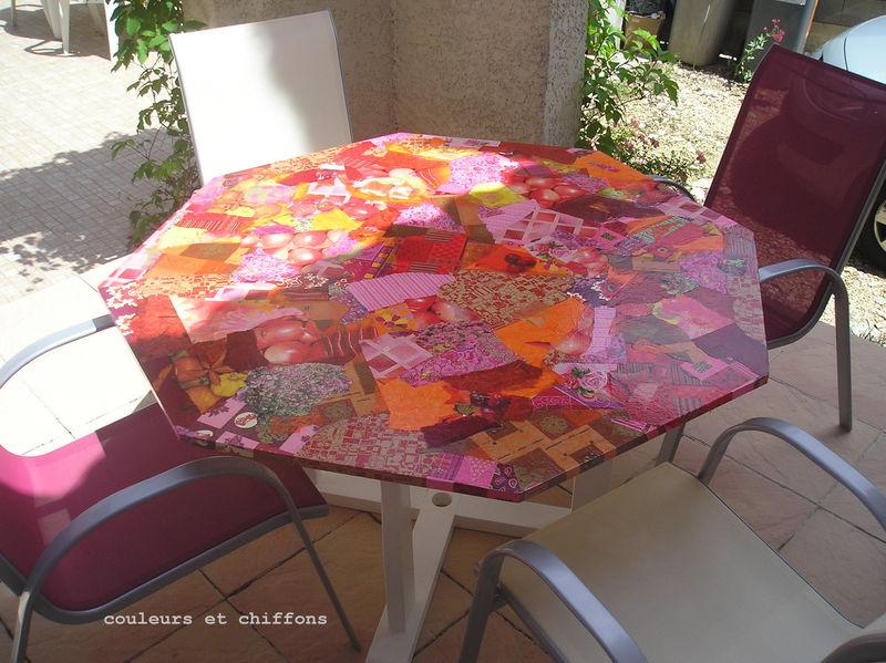 Beautiful relooker une table de jardin en plastique contemporary - Repeindre salon de jardin en plastique ...