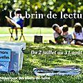 Les parcs départementaux des hauts-de-seine changés en salons de lecture