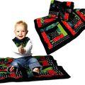 <b>Couverture</b> bébé en patchwork faite main