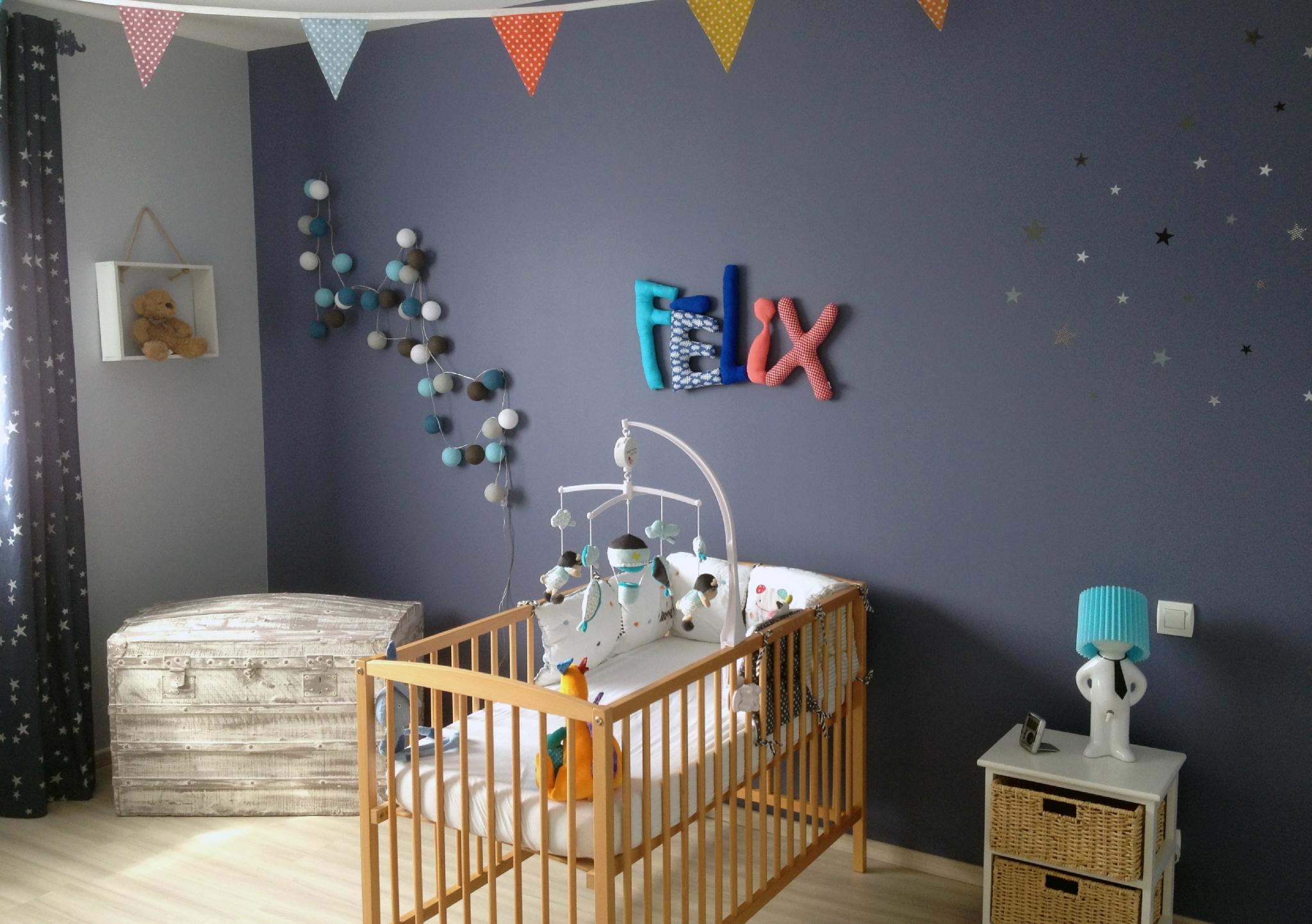 Déco Chambre Personnalisé : Felix chambre enfant deco décoration murale prenom