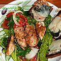 Salade de poulet à l'italienne.