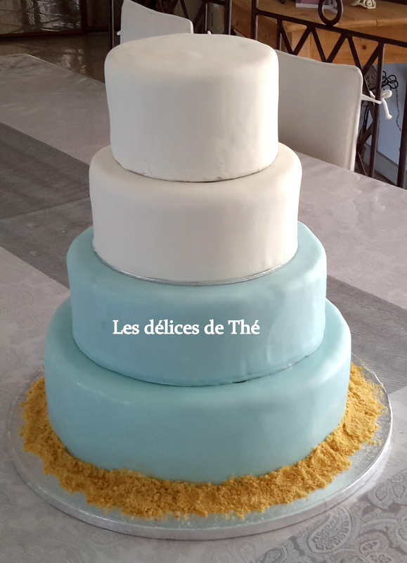 Wedding cake génoise ganaches 3 chocolats Théme Coquillages Mariage Domi Eric 28 04 18 (51) - Copie