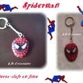 porte-clefs SPIDERMAN fimo