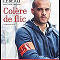 Colère de flic - guillaume lebeau - editions flammarion