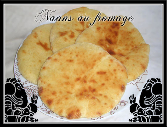 cheese naans ou naans au fromage indien fait maison par lilouina. Black Bedroom Furniture Sets. Home Design Ideas