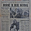 12 novembre <b>1970</b>: journée de deuil national en France