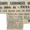 Coupure de journal sur l'accident du 28F4