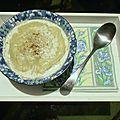 Soupe de pois cassés - lait de coco
