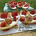Tartelettes sablées tonka, mousse mascarpone et fraises