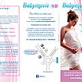 Réalisation du nouveau flyer pour babymovie (triptyque)
