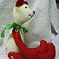 Lulu l'ours en tissu by valinette à la vanille !