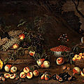 Pittore di Carlo Torre, <b>Gia</b> Pseudo Fardella, recorded in Milan between 1662 and 1675. Fruit still life with squirrel