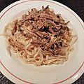 Nouilles chinoises et poulet au tahini