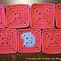 Pink square blanket #15