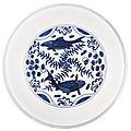 A Blue and White '<b>Fish</b>' <b>Dish</b>, Wanli Mark and Period (1573-1619)