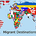 immigration Most Popular Destination for Each Country's Migrants