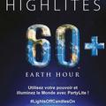 Eteindre les lumières pendant 1h pour la protection de notre planète et allumez une bougie !