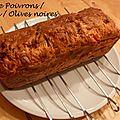 [en cuisine] le cake poivrons/feta/olives noires