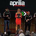 C'était la présentation du team aprilia pour la saison 2018 !